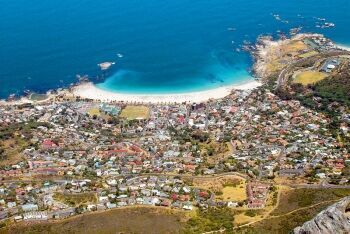 Camps Bay from Table Mountain, Cape Town